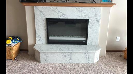 Quartz Fireplace