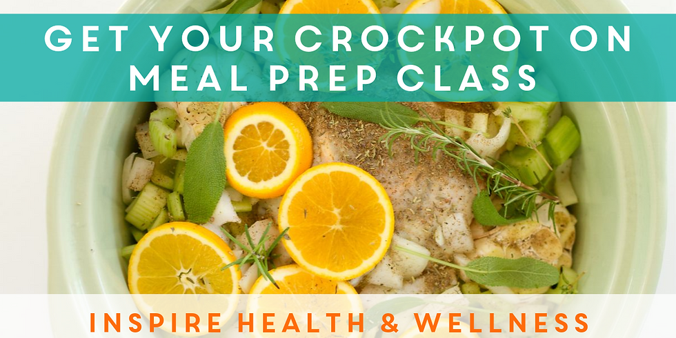 Get Your Crockpot On Meal Prep Class