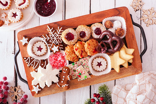 Large Christmas Treat Platter (5 doz.)