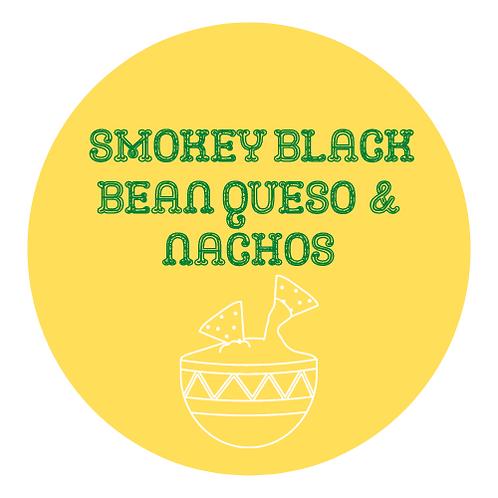 Smokey Black Bean Queso w/ Haus Fried Tortilla Chips