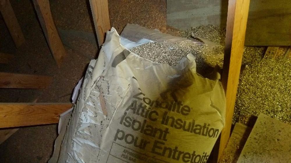 Zonolite Insulation can contain Asbestos