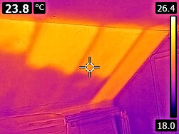 Thermal Imaging- voids in wood chip insulation