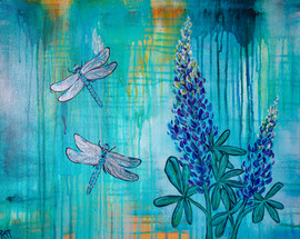 Dragonfly Lupines