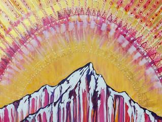 Lone Peak Mandala Pair
