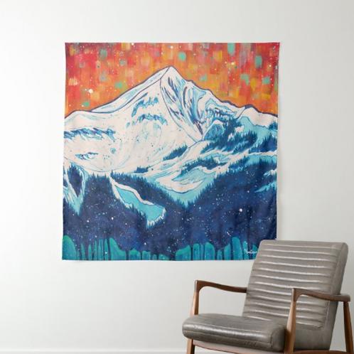 Lone Peak Fractal 1 Tapestry