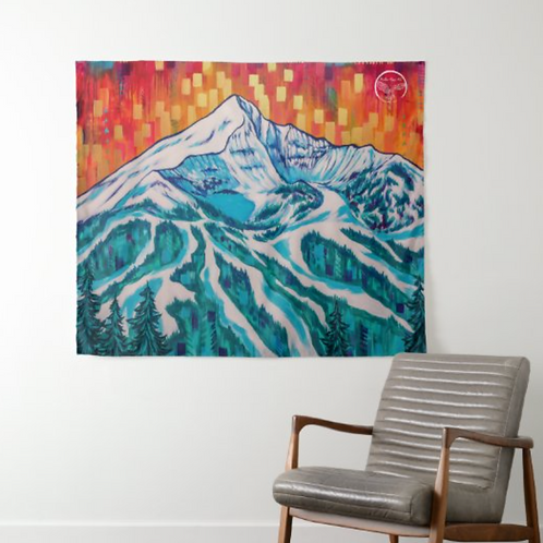 Lone Peak Fractal 2 Tapestry