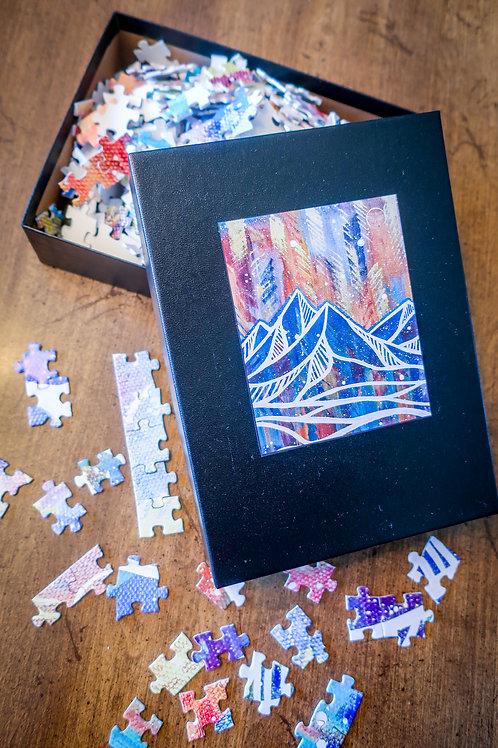 Mountain Aurora Puzzle