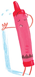 Artwork from The Crayon Book of Numbers by Drew Daywalt, illustrated by Oliver Jeffers, 2016