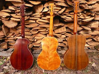 three guitars back