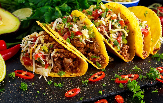 Mexican food - delicious taco shells wit