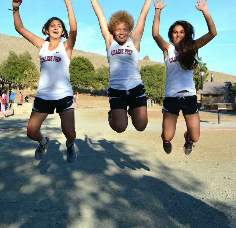 Seniors Ameya F., Maya R., and freshman express their excitement following the exciting race!