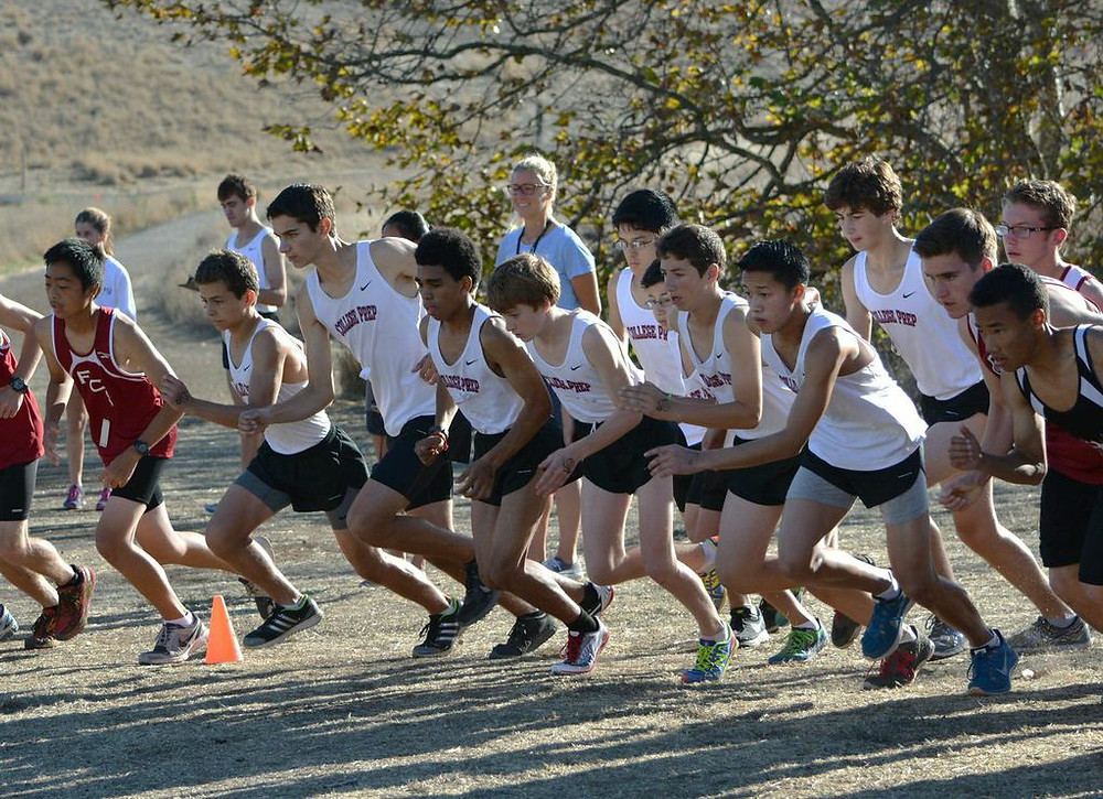 College Prep runners start out strong. Photography by Mary Jo Ashby