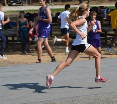 Brianna Bourne gathers speed.