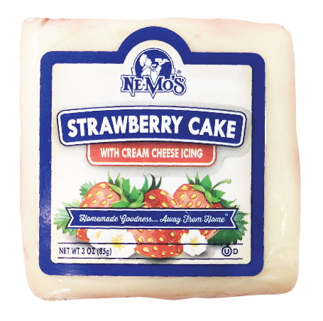 Strawberry Cake Square