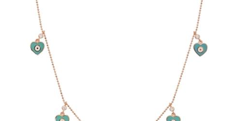 Eye Heart Charm Necklace