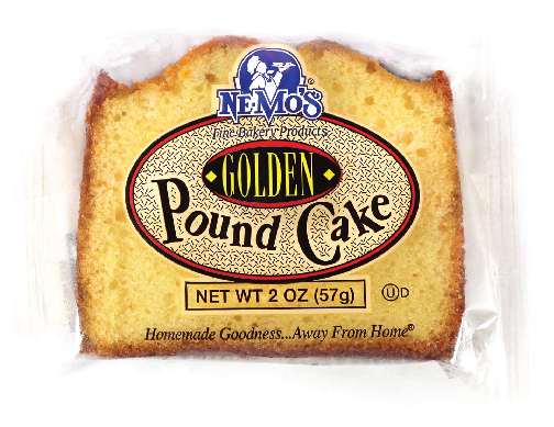 Golden Pound Cake Slice (2oz)