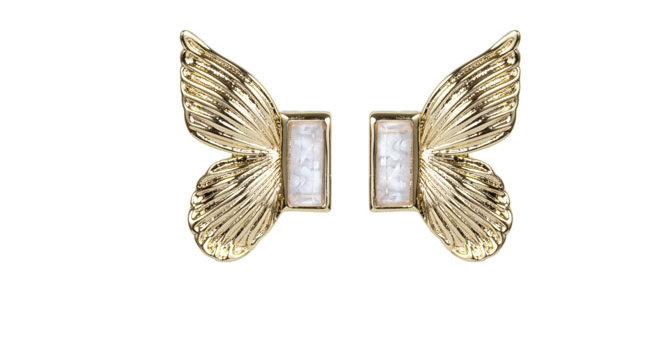 Gem Butterfly Studs