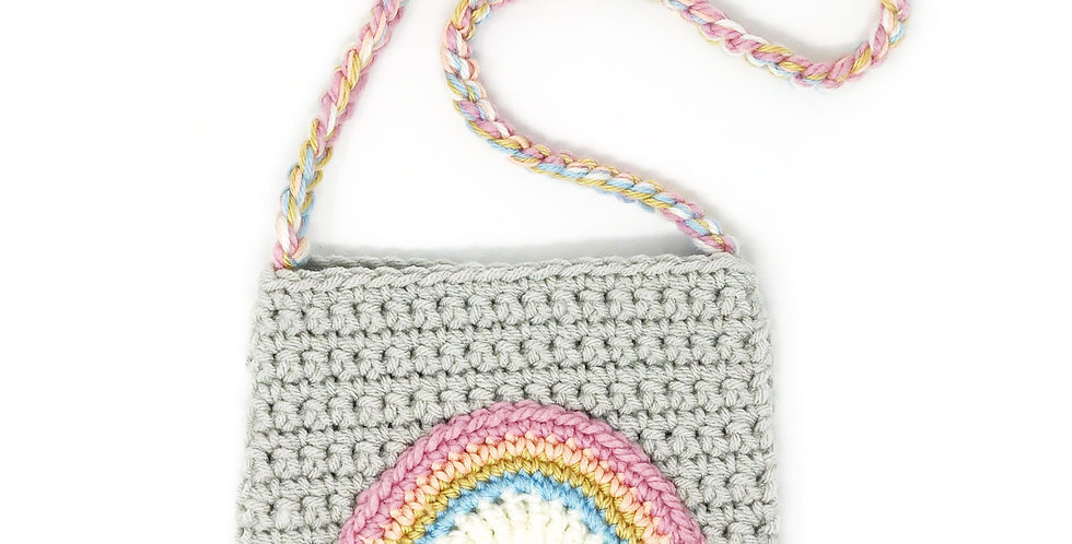 Rainbow Purse / Gray