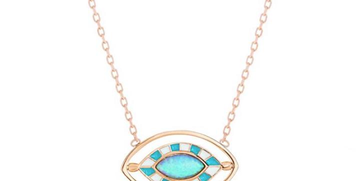 Moonstone Eye Necklace R-C677
