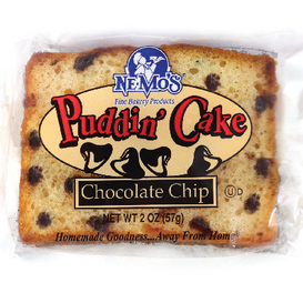 Chocolate Chip Pudding Cake (2oz)