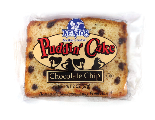 Chocolate Chip Pudding Cake (2oz)