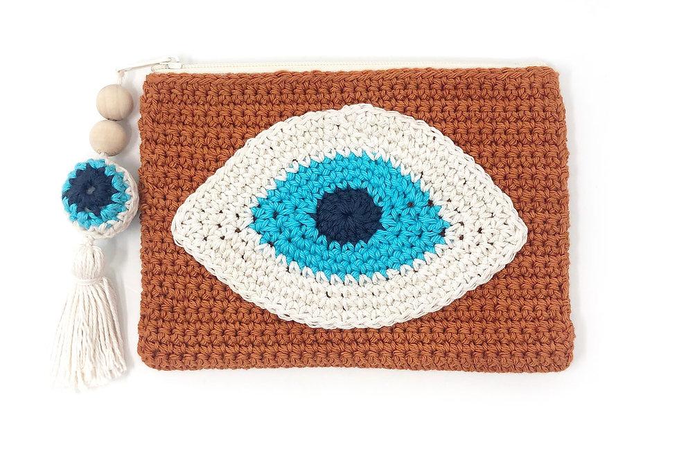 Evil Eye Clutch / Cayenne