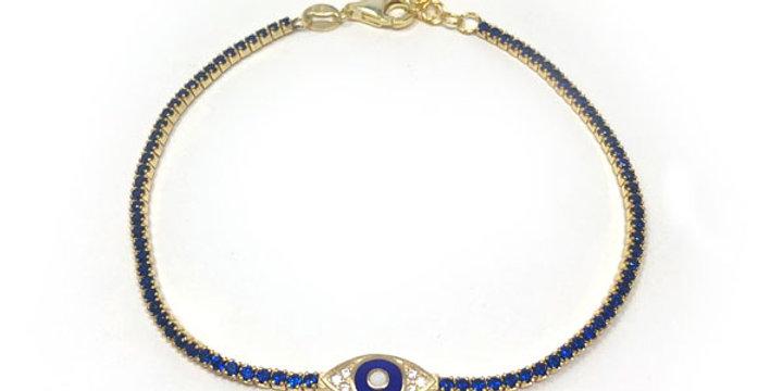 Evil Eye Sapphire Bracelet R-913R