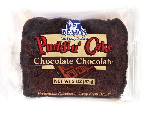 Chocolate Pudding Cake w/Choc. Chips (2oz)