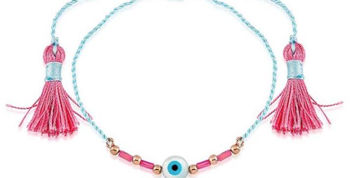 Pink Tassel Bracelet R-A161