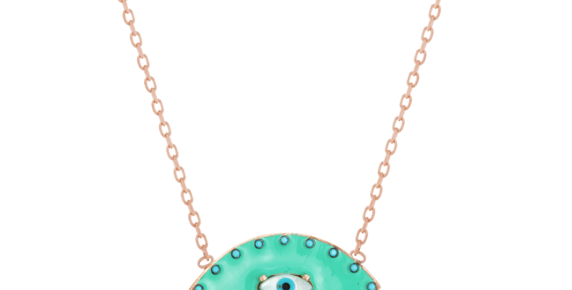 Aqua Eye Necklace