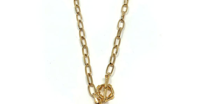 Long Coin Toggle Necklace