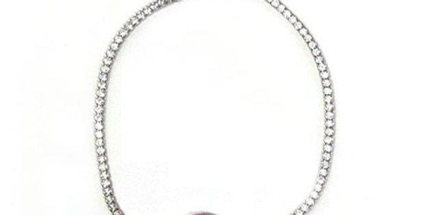 Evil Eye Ruby Bracelet
