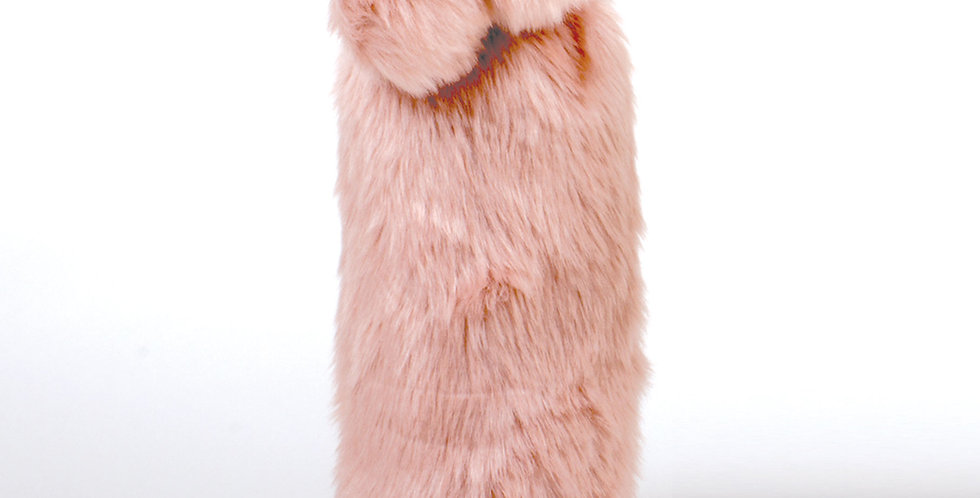 Faux Fur-ever Wine Bag - Pink
