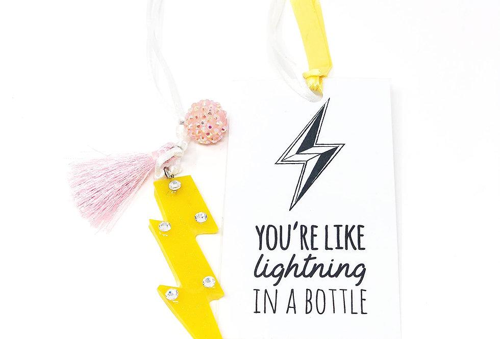 Lightning Bolt Necklace + Bookmark