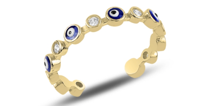 Evil Eye Eternity Ring