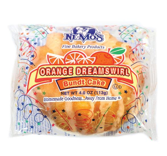 Orange Dreamswirl Bundt Cake (4oz)