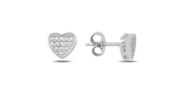 Crystal Heart Studs