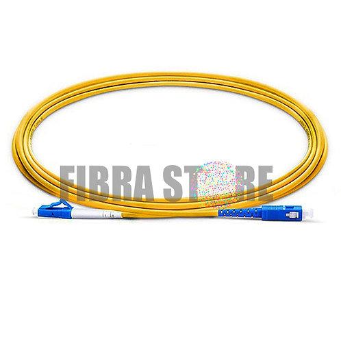 PSSLUSU - Cordão Óptico Monomodo Simplex LC/UPC SC/UPC