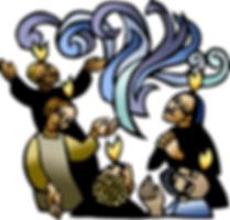 Icon1 Pentecost Day 03 (Color) (Clip Art