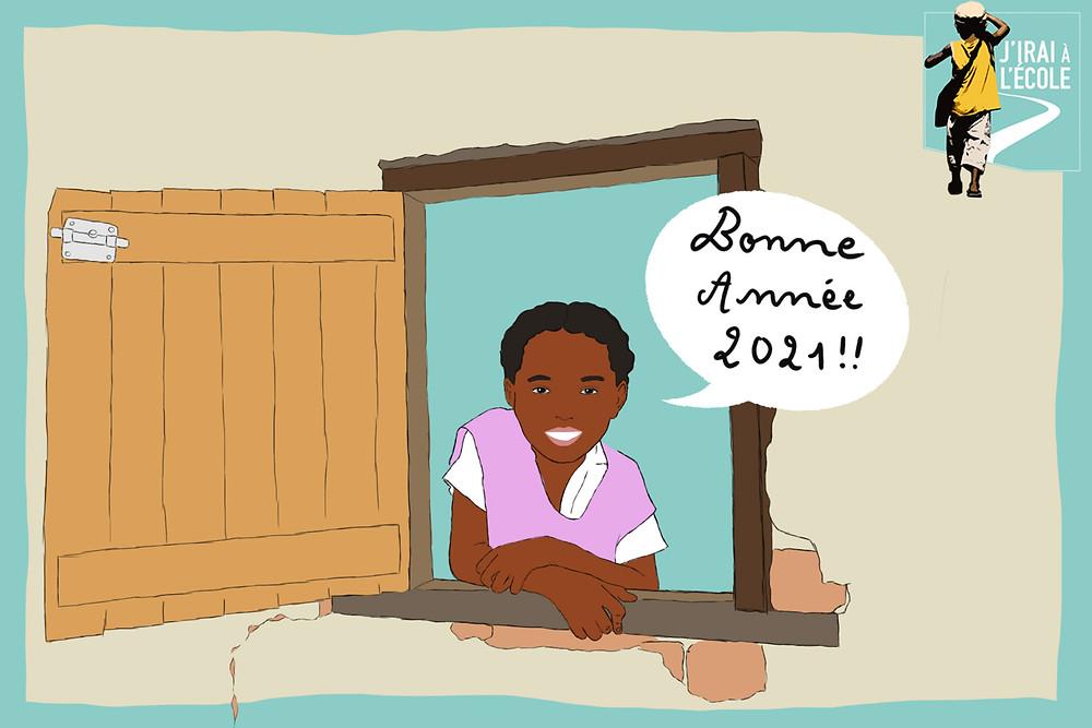 graphisme bonne année de l'association JIAE