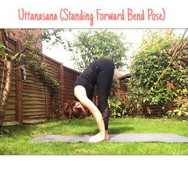 Uttanasana (forward fold)