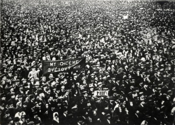 Generální stávka 14. října 1918 v Kladně.