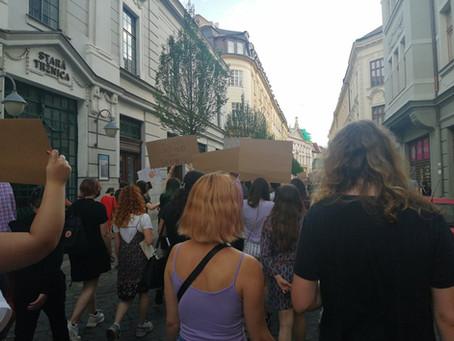 Praha a Bratislava v solidaritě s revolučním hnutím v USA