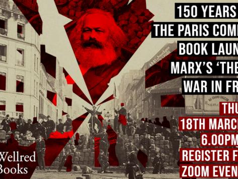 """150. výročí Pařížské komuny: Představení a výhodná cena knihy """"Občanská válka ve Francii"""""""