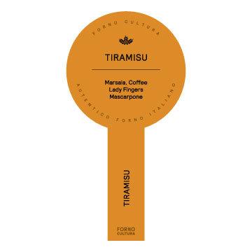 Tiramisu Jar Label