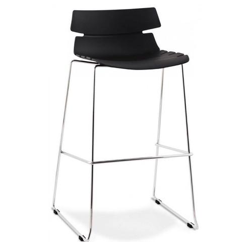 black bar stool louise collection chaise de bar noire - Chaise De Bar