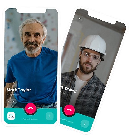 Learn and do. Video call with DIY enthusiast