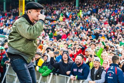 Al Barr with Dropkick Murphys at Fenway Park
