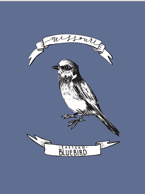 Missouri Series - Bluebird Print