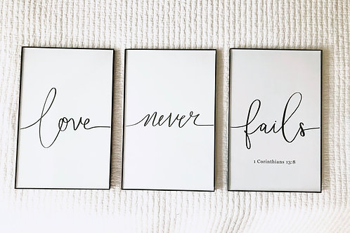 """Love never Fails"""